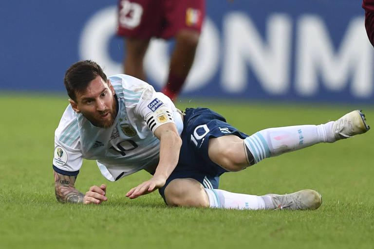 Messi durante partida contra a Venezuela, no Maracanã, pela Copa América de 2019