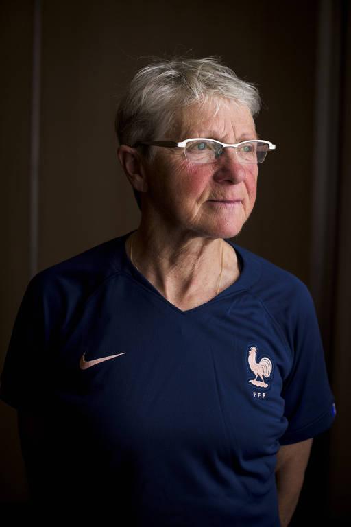 Marie-Bernadette Thomas, que jogou pela França em uma partida não oficial, em 1971