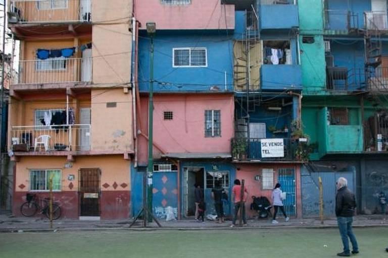 Construções de favela