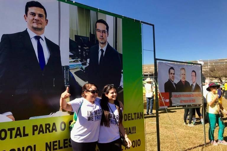 Manifestação a favor da Lava Jato em Brasília