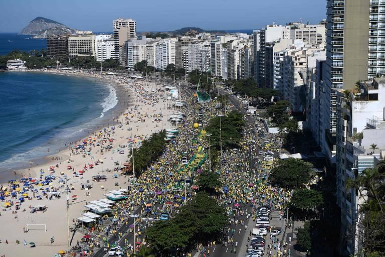 Veja fotos de manifestação de apoio a Sergio Moro no Rio de Janeiro