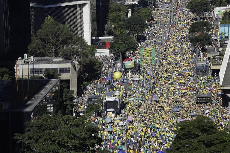 Veja fotos da manifestação de apoio a Moro, em junho