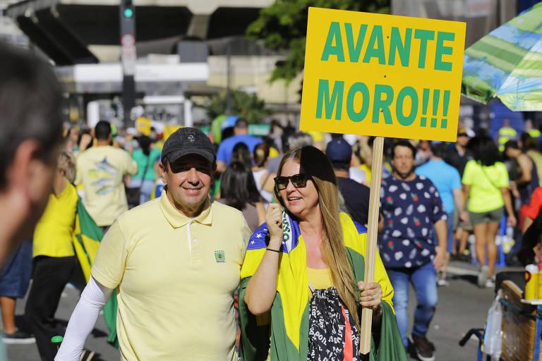 Veja fotos da manifestação de apoio a Sergio Moro em São Paulo