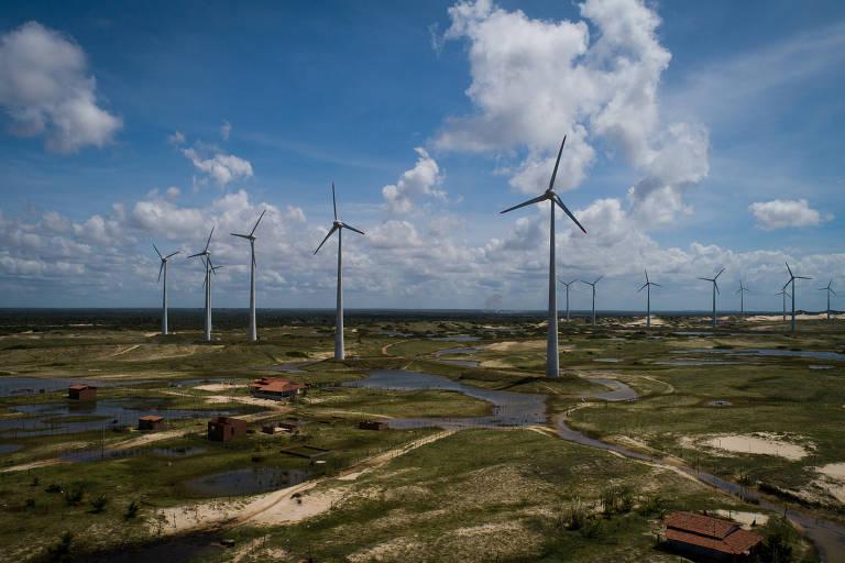 Parque de energia eólica no Nordeste