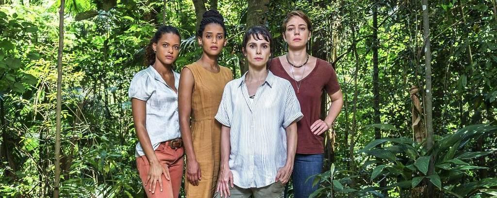 Da esq. para dir., Clara (Thainá Duarte), Verônica (Taís Araújo), Natalie (Débora Falabela) e Luiza (Leandra Leal)