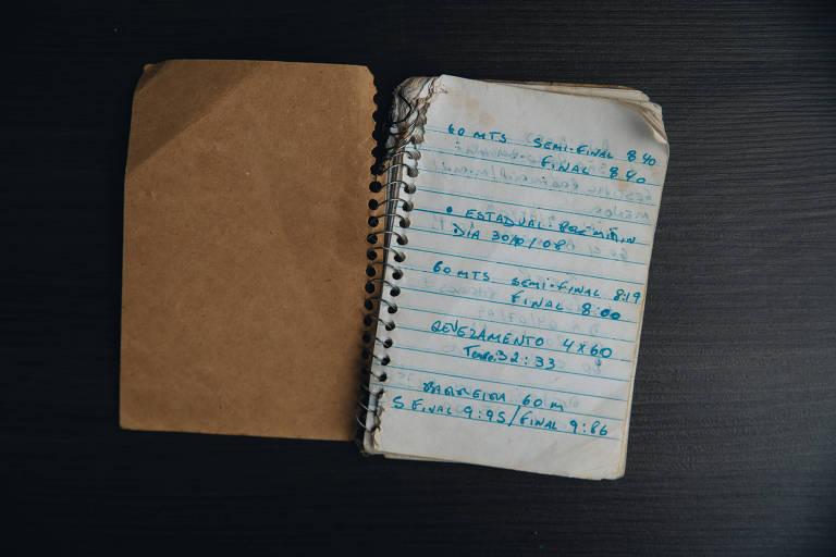 O caderno com os tempos de Vitor Hugo