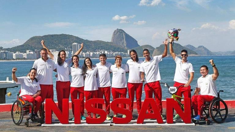 Time de atletas da Nissan para os Jogos de Tóquio-2020