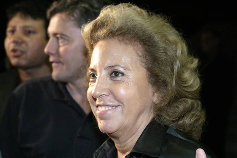Marlene Matheus durante reunião do Conselho Orientador do Corinthians, em 2004