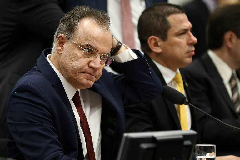 O relator da reforma da previdência, deputado Samuel Moreira (PSDB-SP), durante sessão da comissão especial na Câmara