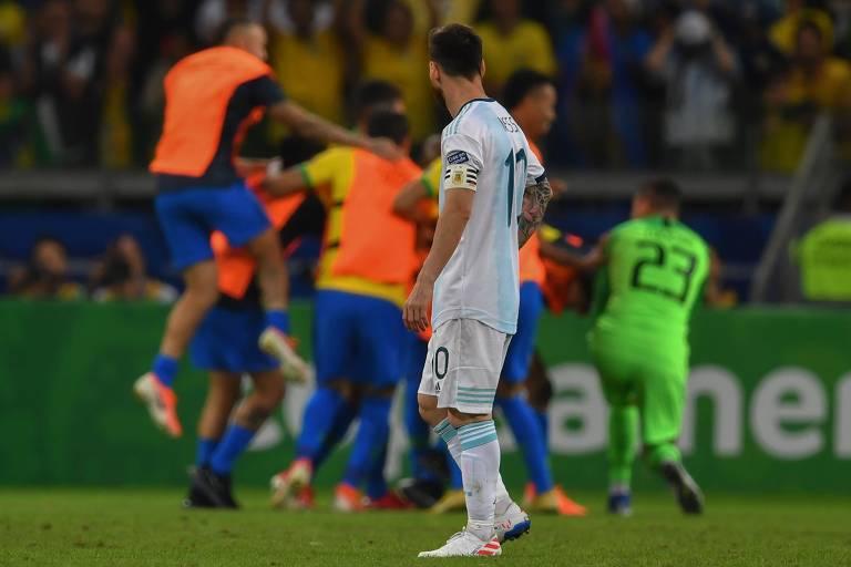 No fim, Lionel Messi amargou mais uma derrota pela seleção argentina