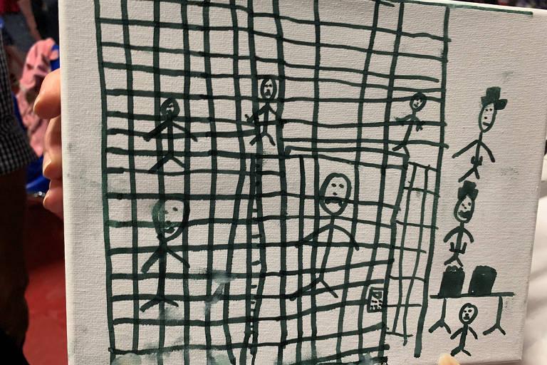 Desenhos de crianças imigrantes