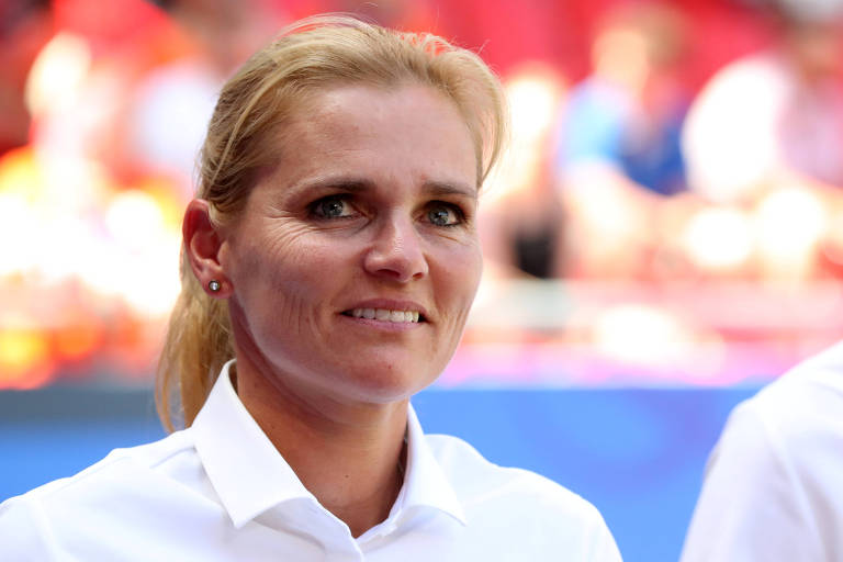 Sarina Wiegman, 49, treinadora da Holanda