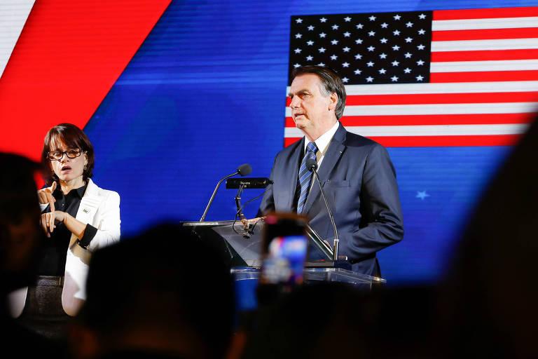 03/07/2019 Coquetel de recepção para celebrar o 243º Aniversário da Independência dos Estados Unidos da América  (Brasília - DF, 03/07/2019) Palavras do Presidente da República, Jair Bolsonaro.  Foto: Carolina Antunes/PR