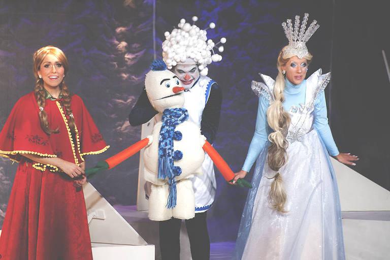 Cena da peça 'A Rainha da Neve', em cartaz no shopping Jardim Sul