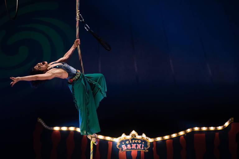 Número do Circo Zanni, que retorna aos palcos para curta temporada