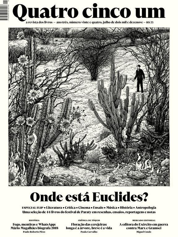 Capa da última edição da revista literária Quatro Cinco Um