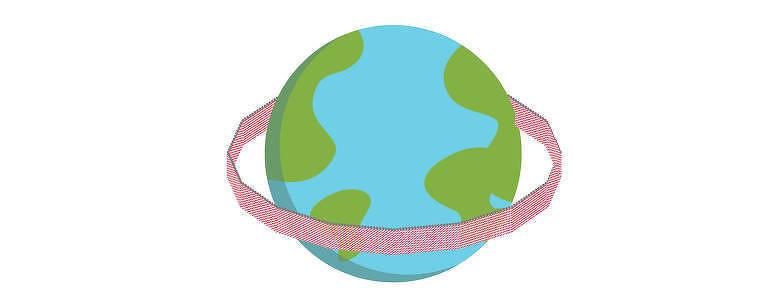 Empilhando os canudos consumidos por brasileiros em um ano em um muro de 2,10 metros de altura, seria possível dar uma volta completa na Terra, numa linha de mais de 45.000 quilômetros