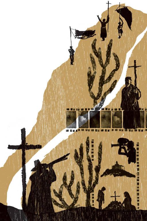 gravuras de cenas de glauber rocha