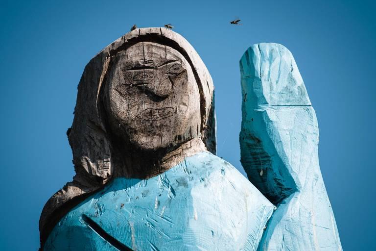 A inauguração da estátua foi realizada em 5 de julho de 2019