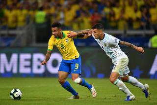 (SP)BRAZIL-BELO HORIZONTE-FOOTBALL-COPA AMERICA 2019-ARGENTINA VS BRAZIL