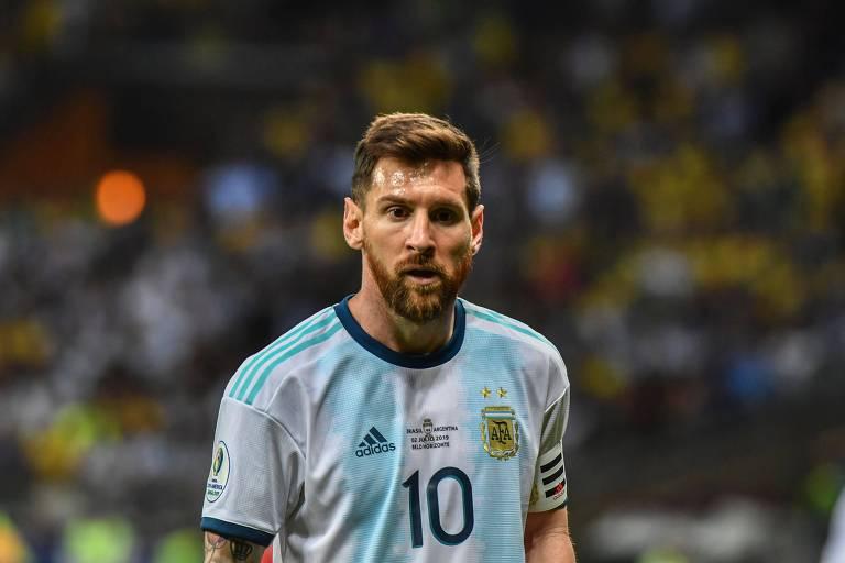 Lionel Messi durante a partida contra o Brasil pela Copa América 2019