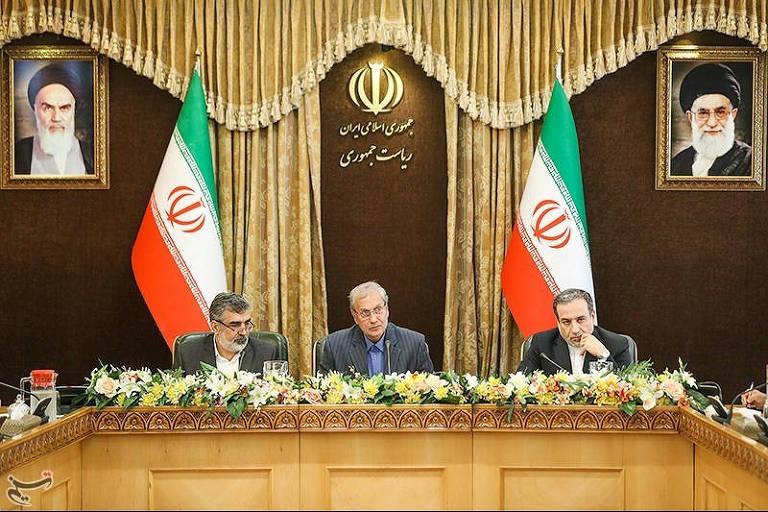 iranianos em coletiva