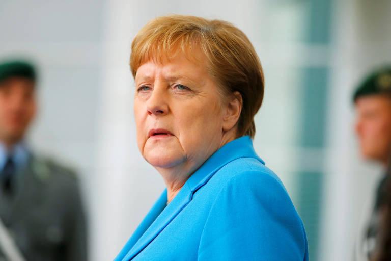 A chanceler alemça Angela Merkel em Berlim
