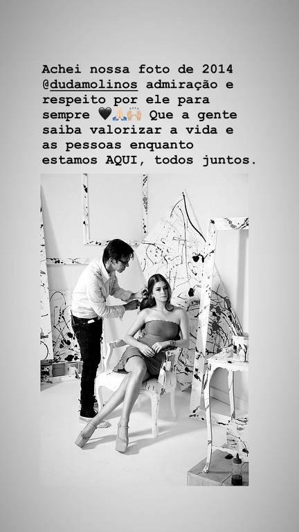 Marina Ruy Barbosa faz homenagem a Duda Molinos