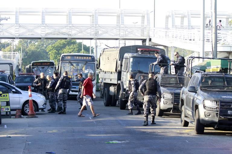 Operação do Batalhão de Choque no Complexo da Maré, no Rio de Janeiro (RJ)