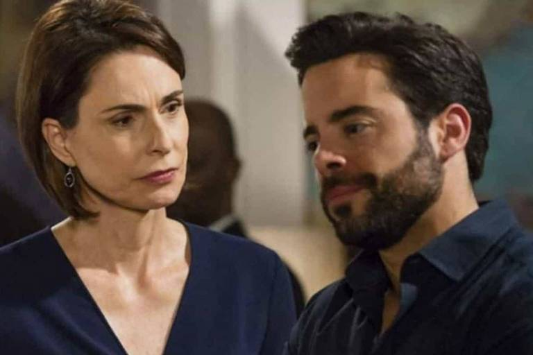 A brasileira Silvia Pfeifer e o português Pedro Carvalho em cena