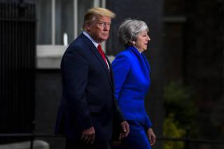 BRITAIN-LONDON-PM-U.S.-PRESIDENT-MEETING