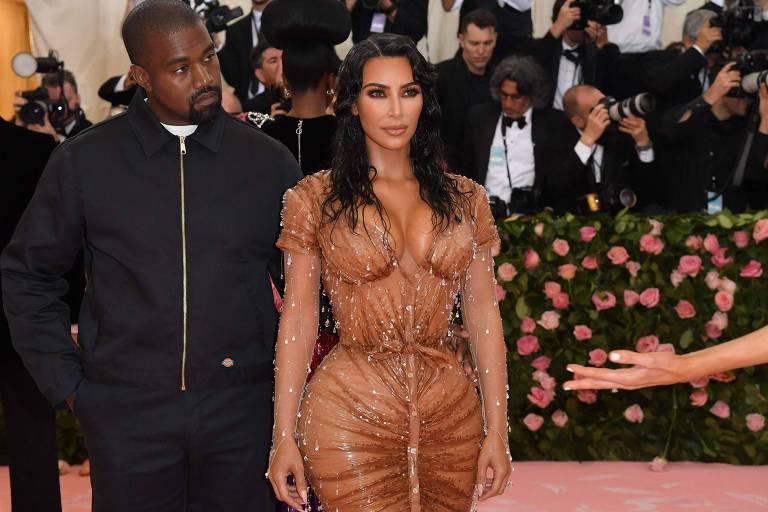Kanye Weste e Kim Kardashian no Met Gala 2019