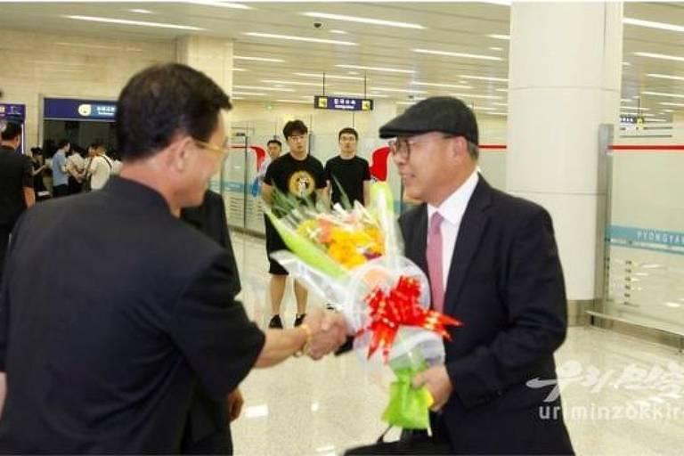 Choe In-guk foi bem recebido em Pyongyang, segundo a mídia estatal