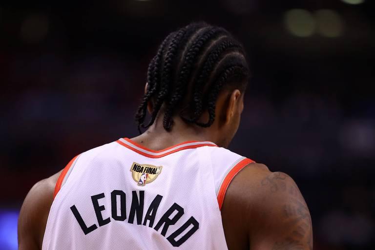 Kawhi Leonard, novo reforço dos Clippers, durante final da NBA pelo Toronto Raptors, contra o Goldens State Warriors