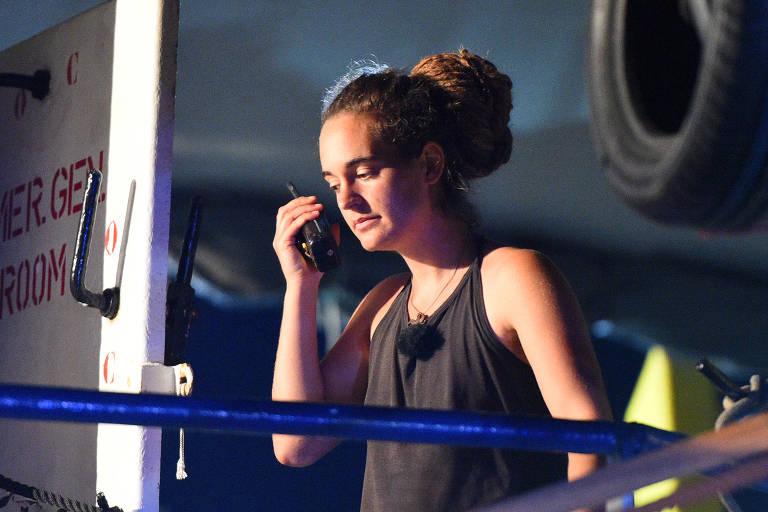 A alemã Carola Rackete, presa após atracar na Itália
