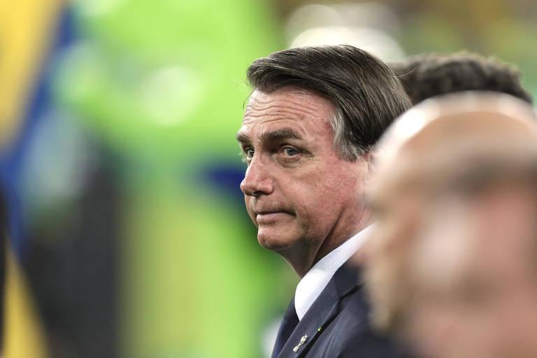 Presidente Jair Bolsonaro na cerimônia da premiação da Copa América