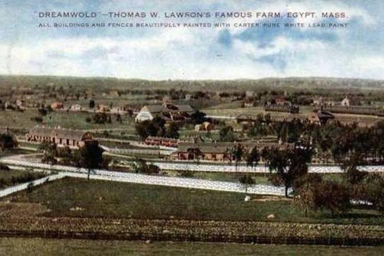 Dreamworld, a enorme propriedade que Lawson construiu na cidade de Sciutate, em Massachusetts