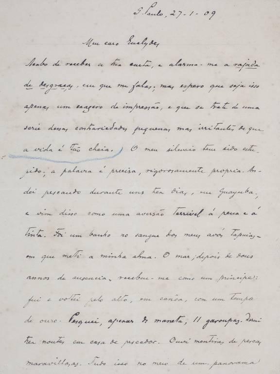 Cartas de Vicente de Carvalho a Euclides da Cunha