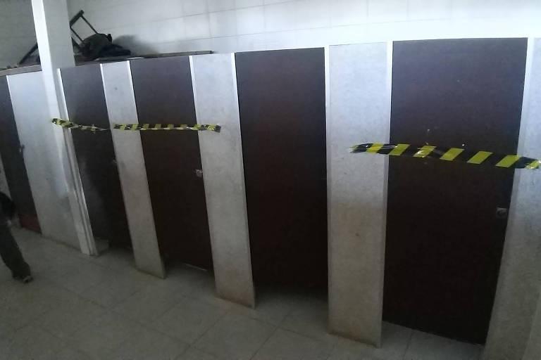 Banheiros do Parque do Carmo estão com problemas