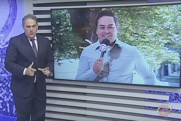 Stanley Gusman fala com repórter ao vivo