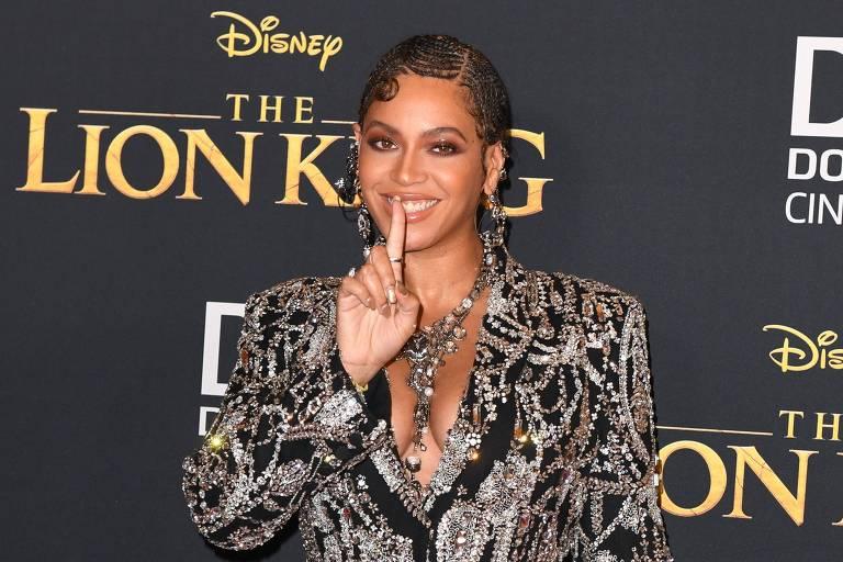 Beyoncé na premiere de 'O Rei Leão'