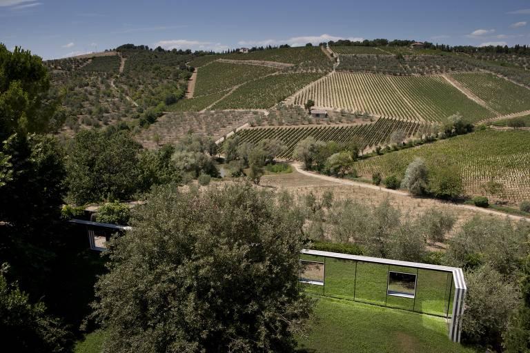 Vinícola na Itália propõe diálogo entre obras de arte e natureza