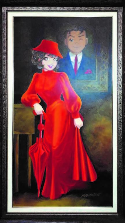Obra que está exposta na mostra 'Olá, Mauricio', na Fiesp