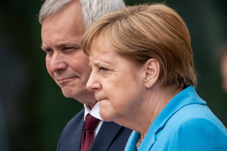 Finnish Prime Minister Rinne meets Merkel