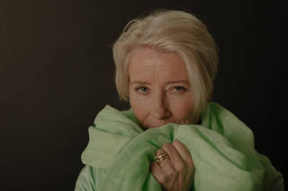 Actress Emma Thompson in Beverly Hills, Calif.