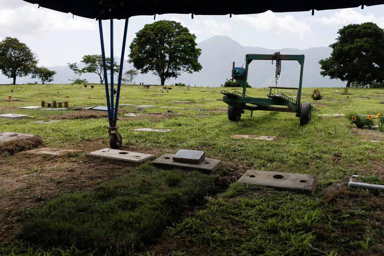 Túmulo do militar Rafael Acosta Arevalo em cemitério de Caracas