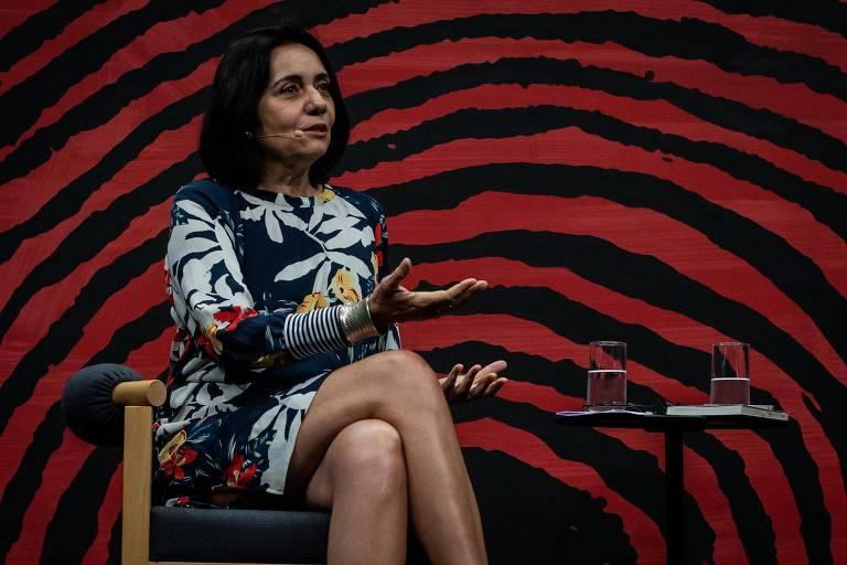 A doutora em antropologia social e professora do Museu Nacional da Universidade Federal do Rio de Janeiro (UFRJ), Aparecida Vilaça, durante a mesa 2 - Bendegó, durante a Flip 2019, em Paraty
