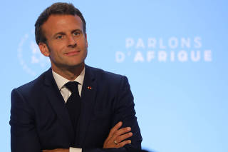 Macron and his Ghanaian counterpart Nana Akufo-Addo attend dialogue over Africa