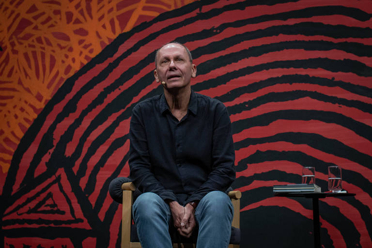 O escritor José Miguel Wisnik, durante a mesa 4 - Sincorá, como parte da Flip 2019, em Paraty