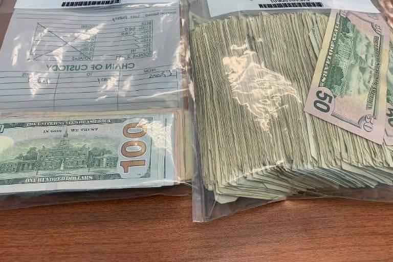Dinheiro devolvido à polícia